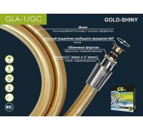 Шланг д/душа  GLA - 1GC  1.6м(1/2-1/2) золотой