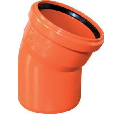 Отвод канализационный ПВХ рыжий