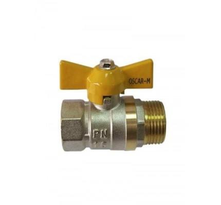 Кран   для газа   3/4 г/ш б-ка  Oscar-M