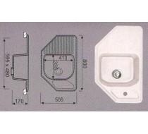 Мойка EG-31 (черный) 308 (505 х 800/335 х 410 х 170)