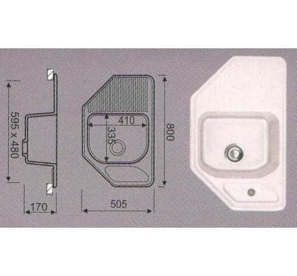 Мойка EG - 31   (505 х 800 / 335 х 410 х 170 )