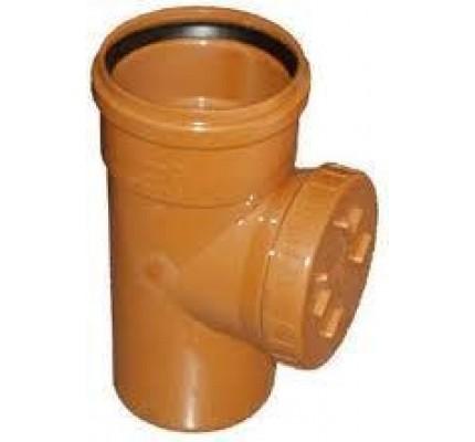 Ревизия канализационная ф 110 рыжая