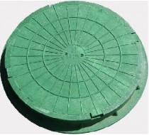 Люк круглый легкий (зеленый) 3т