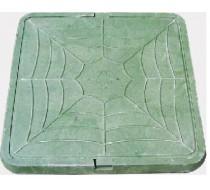 Люк квадр. садовый легкий (зеленый) 3т