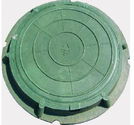 Полимерпесчаный люк круглый садовый малый