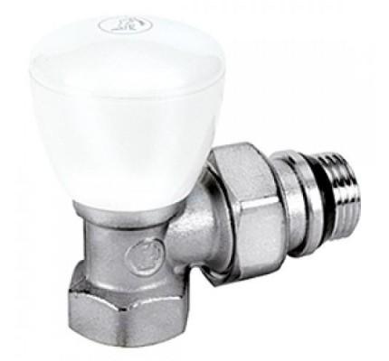 """Клапан ручной термостатический угловой проходной с отводом  с герметч. проклад.  1/2"""" R421Х133  Giacomini"""